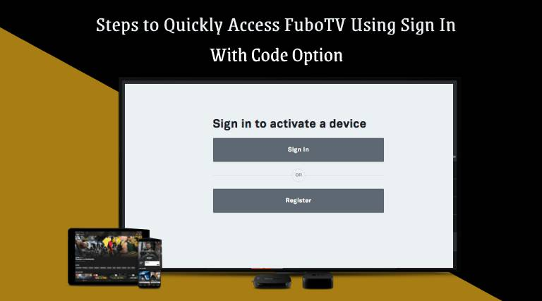 Fubo.TV/connect sign in with code