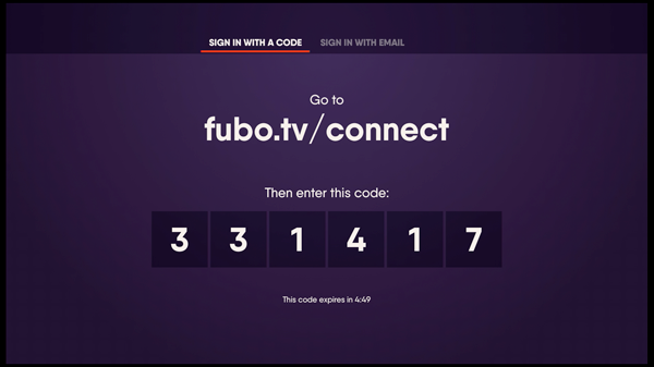 fubo.tv/connect enter code